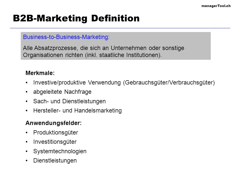 B2B-Marketing Definition