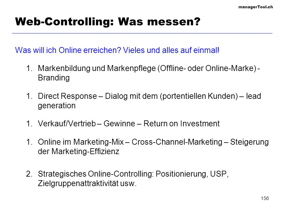 Web-Controlling: Was messen