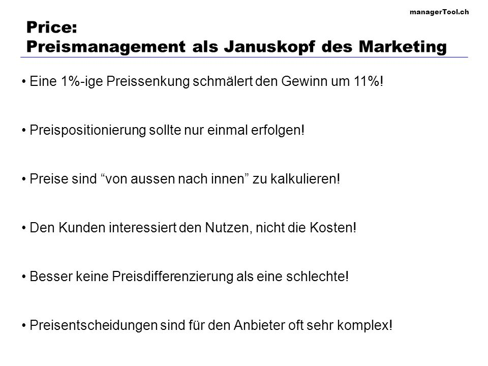 Price: Preismanagement als Januskopf des Marketing