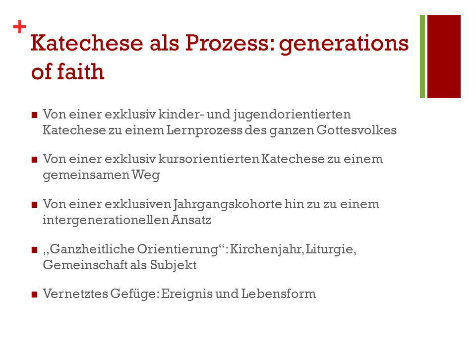 Katechese als Prozess: generations of faith