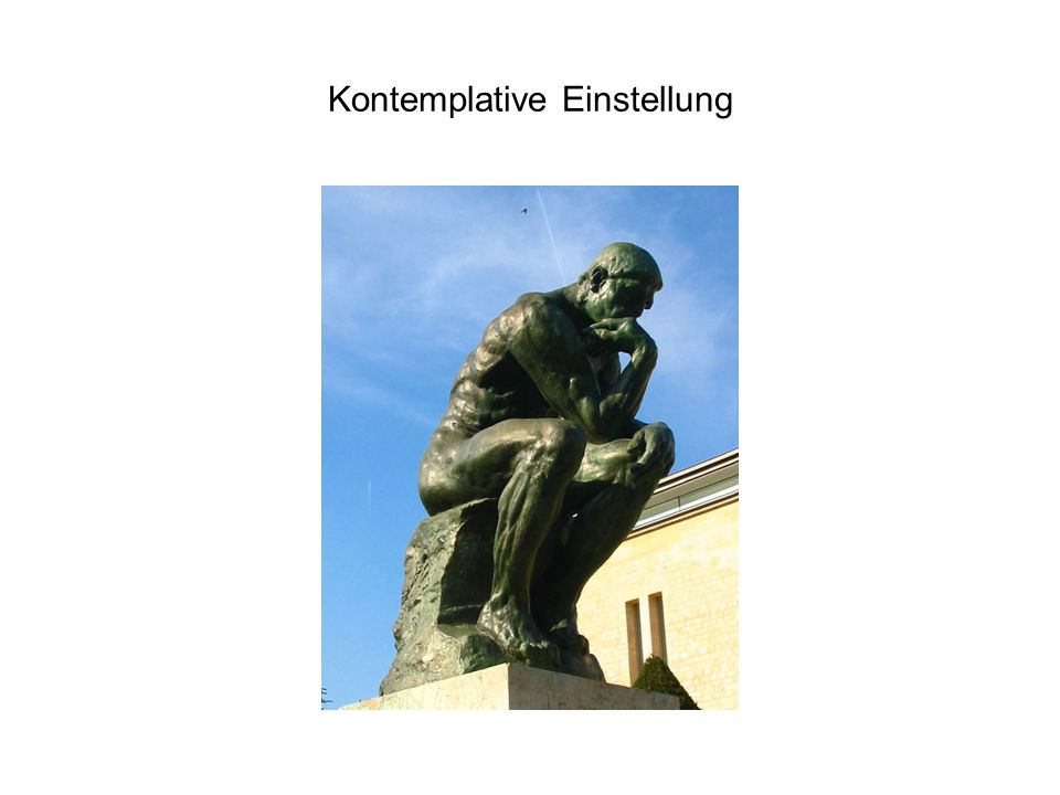 Kontemplative Einstellung