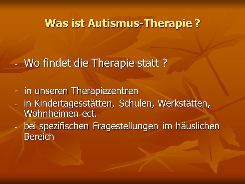Was ist Autismus-Therapie