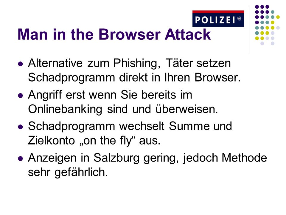 Man in the Browser Attack