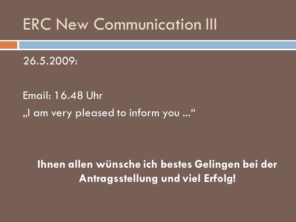 ERC New Communication III