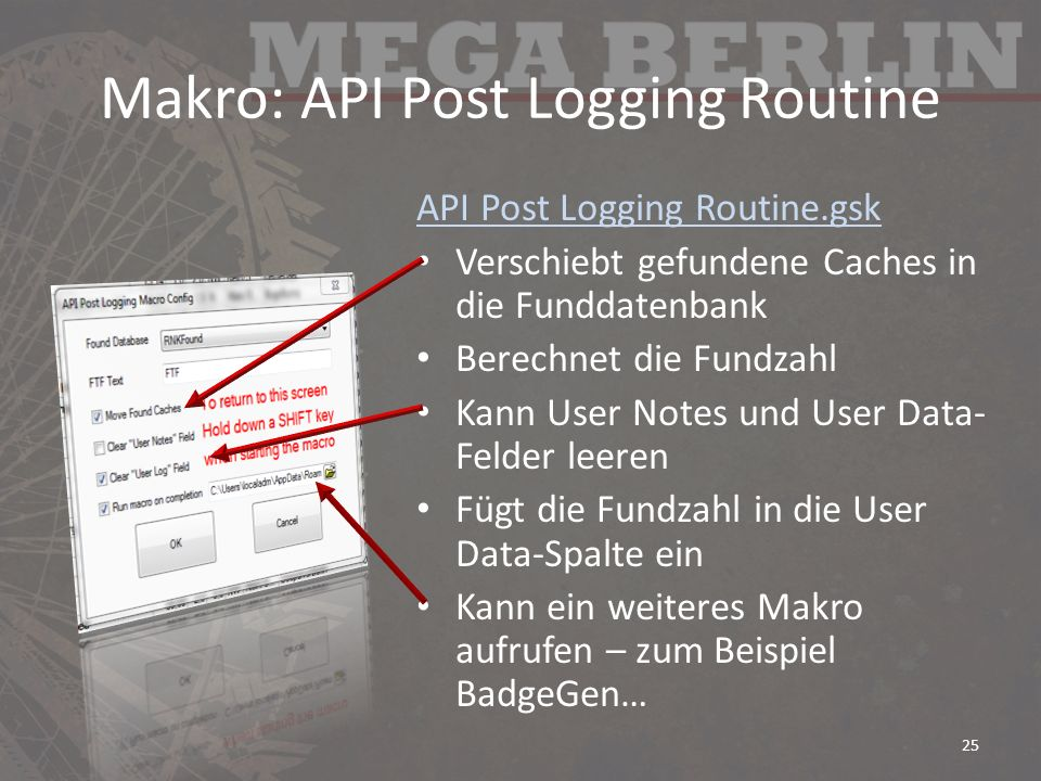 Makro: API Post Logging Routine
