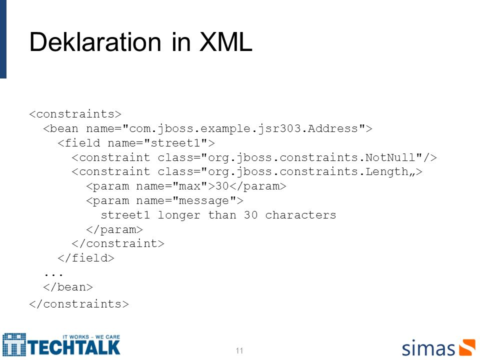 Deklaration in XML