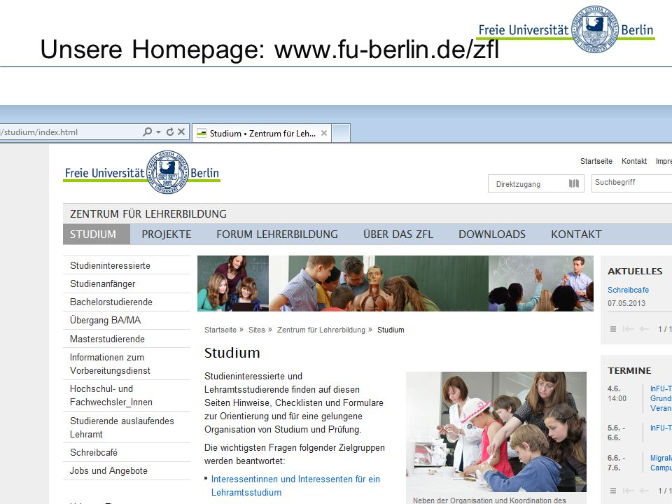 Unsere Homepage: