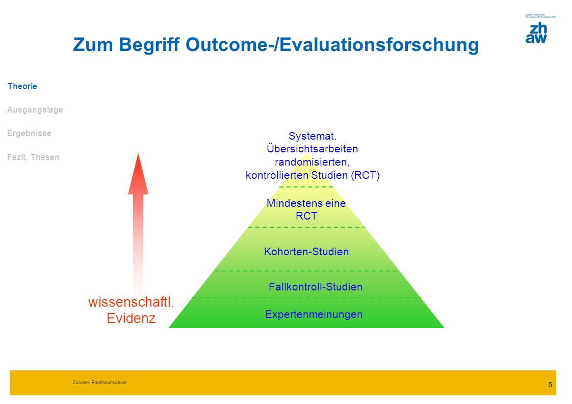 Zum Begriff Outcome-/Evaluationsforschung