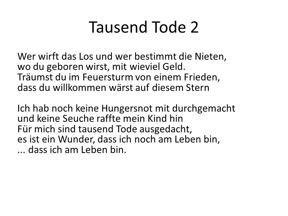 Tausend Tode 2