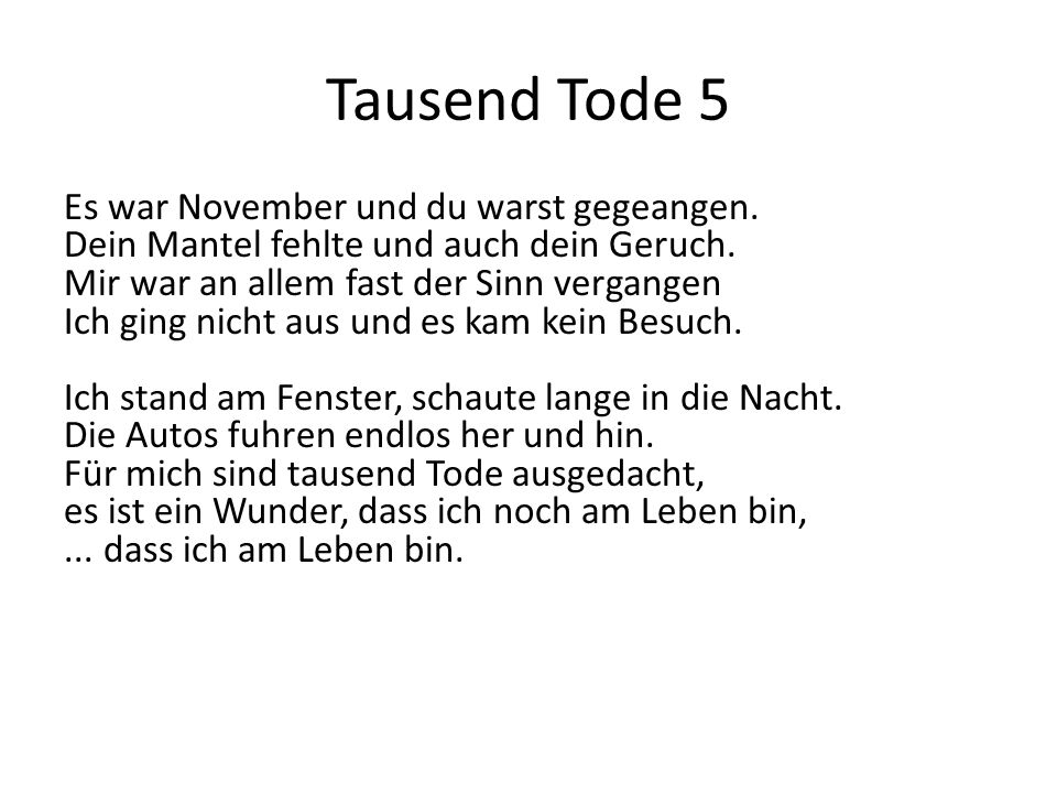 Tausend Tode 5