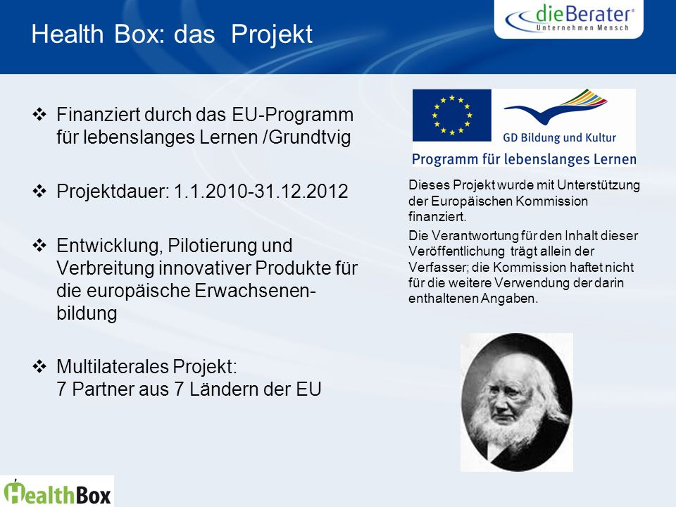 Health Box: das Projekt