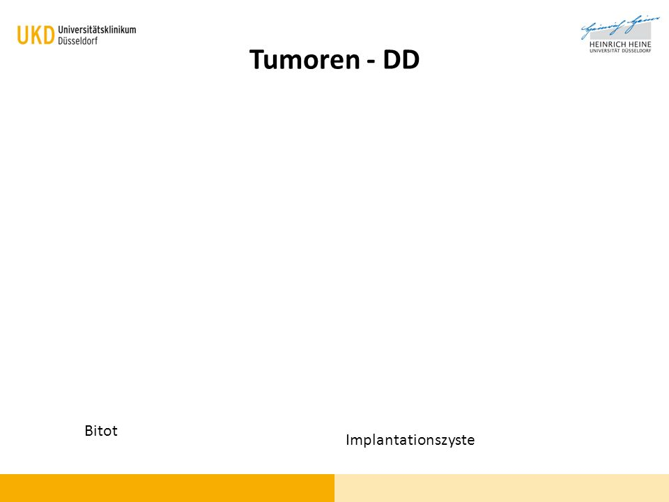 Tumoren - DD Bitot Implantationszyste