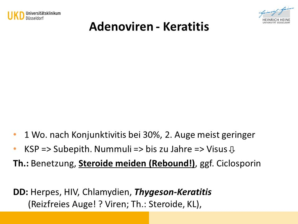 Adenoviren - Keratitis