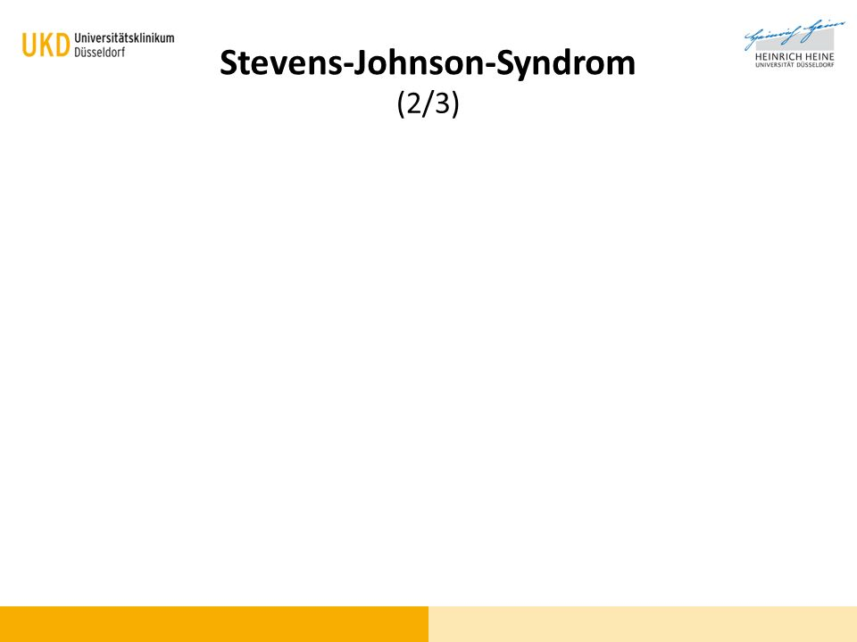 Blickdiagnose (2/3) Stevens-Johnson-Syndrom