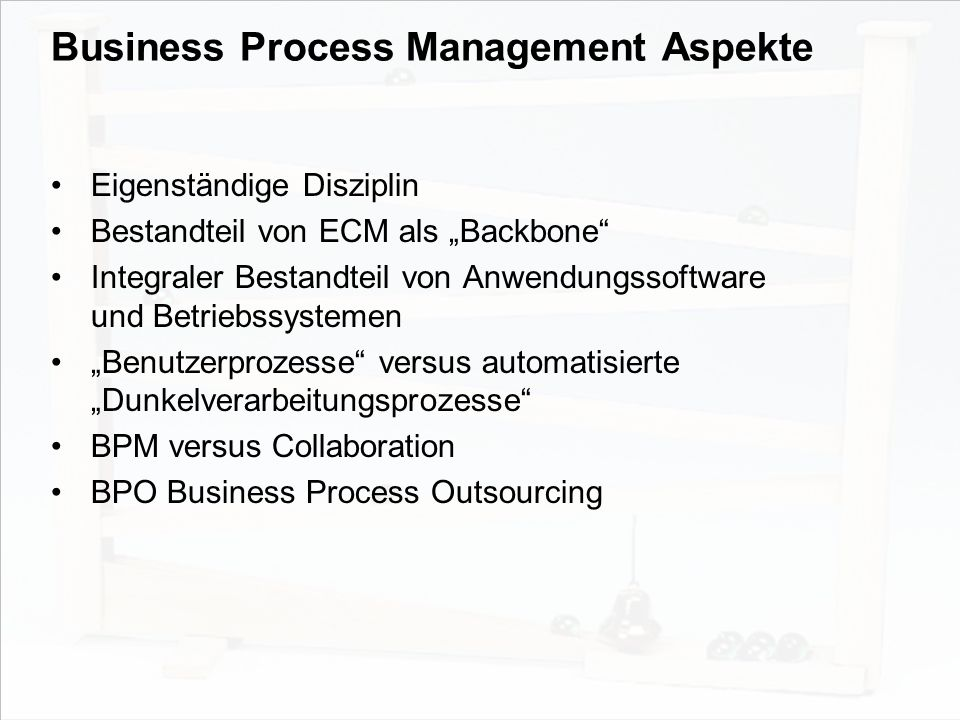 Business Process Management Aspekte