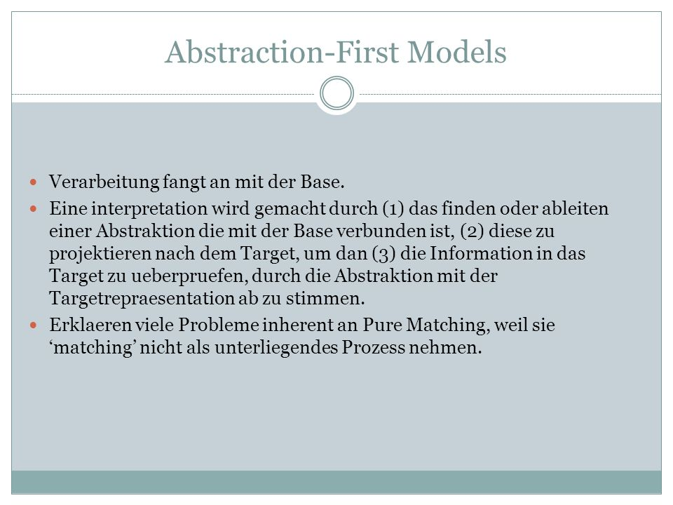 Abstraction-First Models