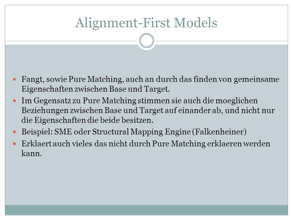 Alignment-First Models