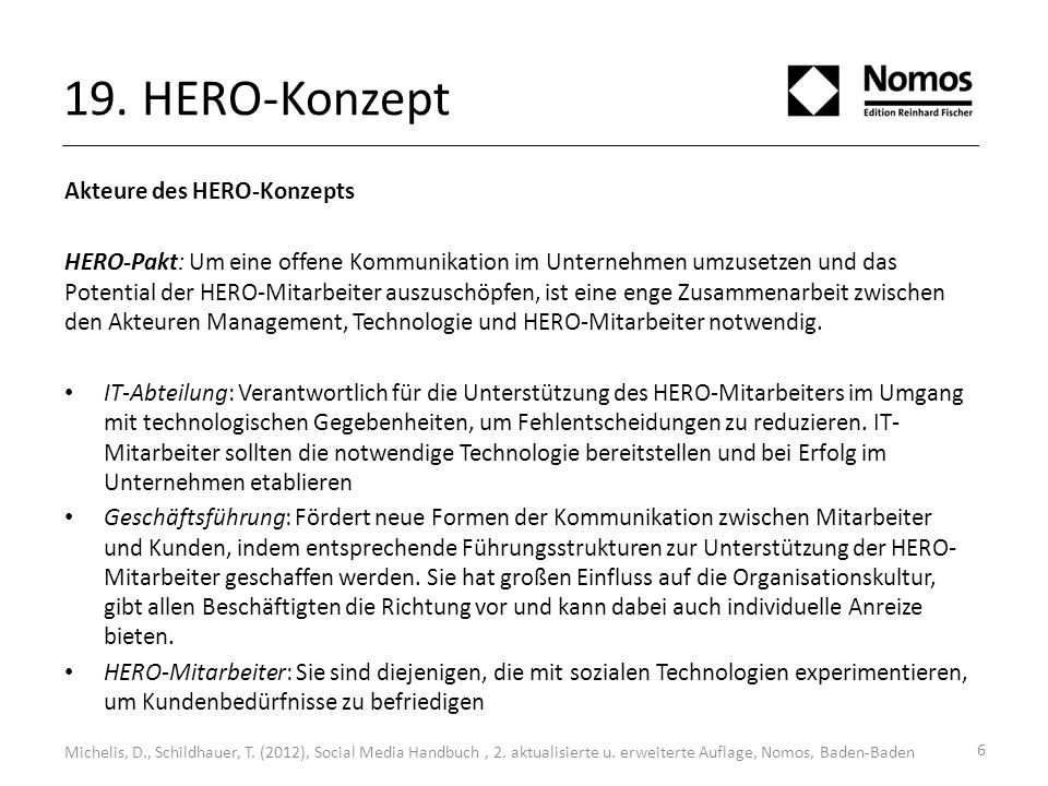19. HERO-Konzept Akteure des HERO-Konzepts