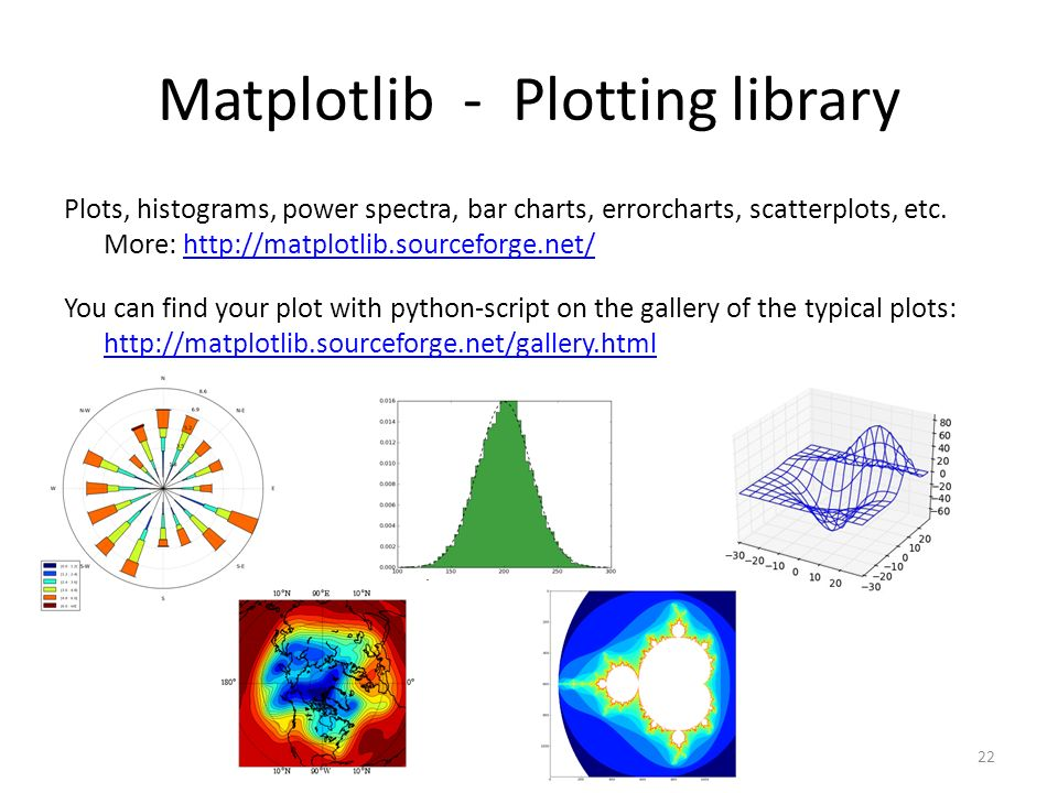 Matplotlib - Plotting library