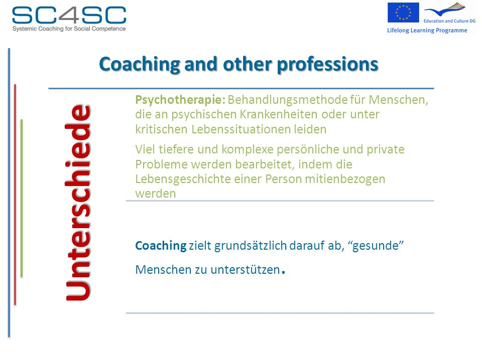 Coaching and other professions
