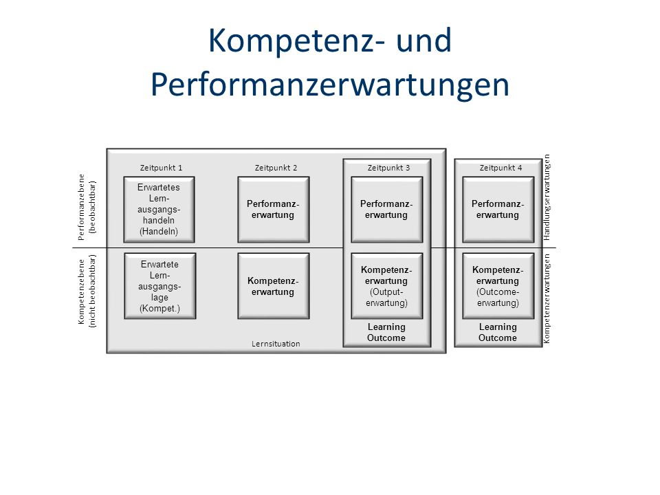 Kompetenz- und Performanzerwartungen