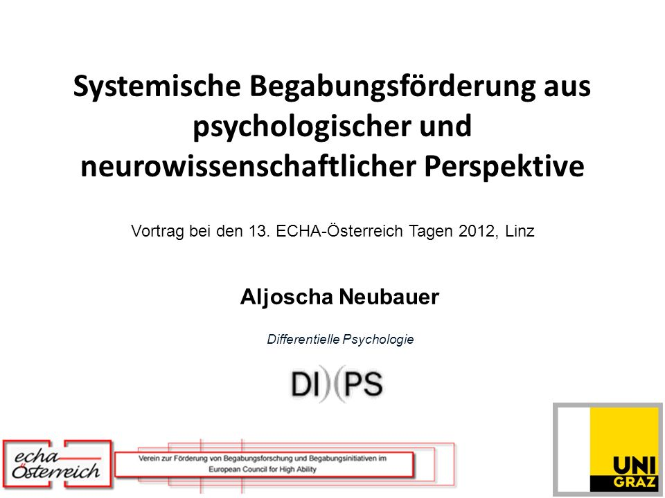Aljoscha Neubauer Differentielle Psychologie