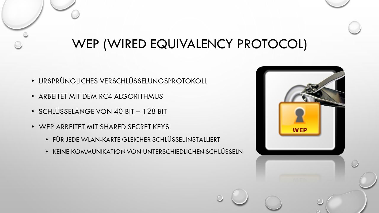 WEP (wired equivalency protocol)