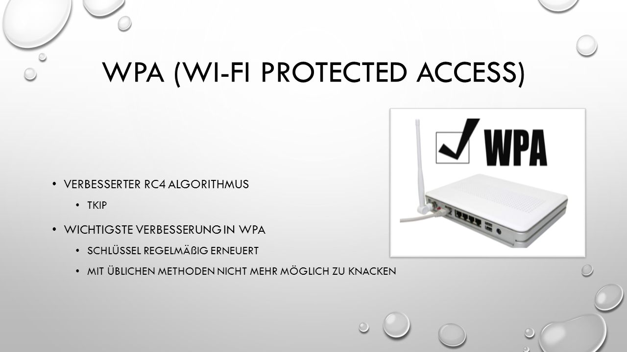 WPA (Wi-fi protected access)