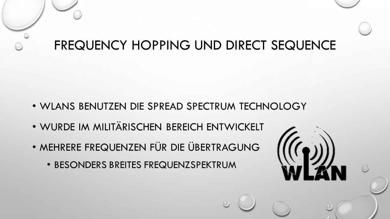 Frequency Hopping und direct sequence