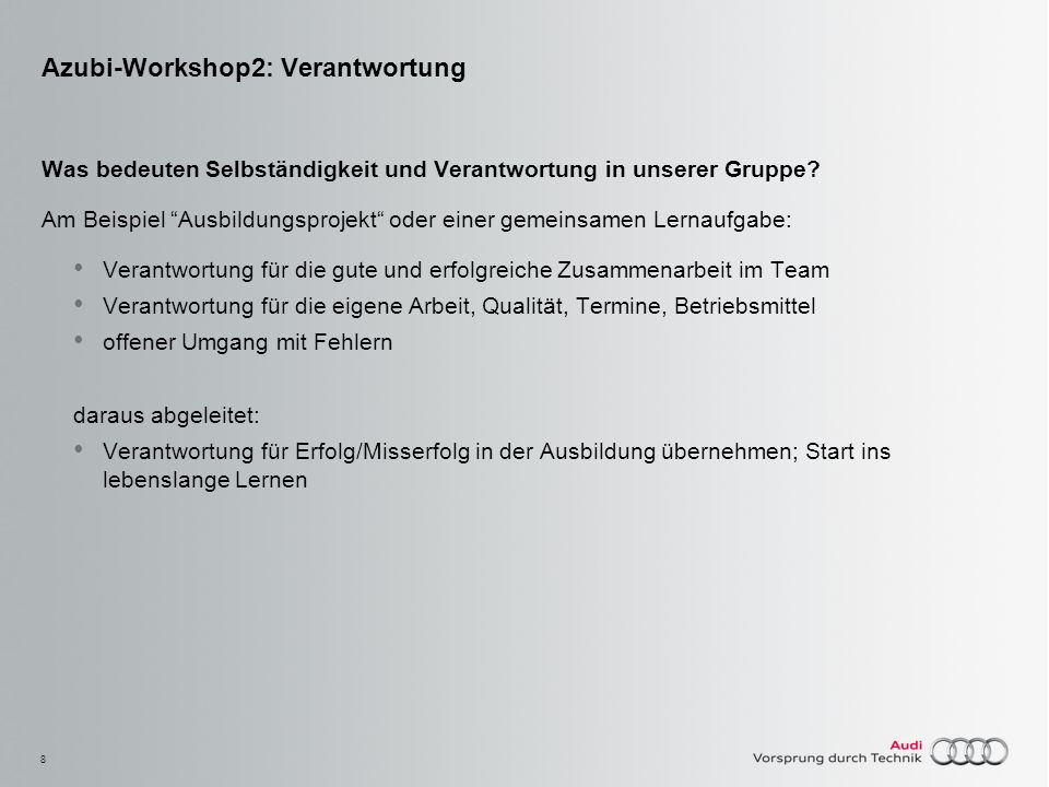 Azubi-Workshop2: Verantwortung