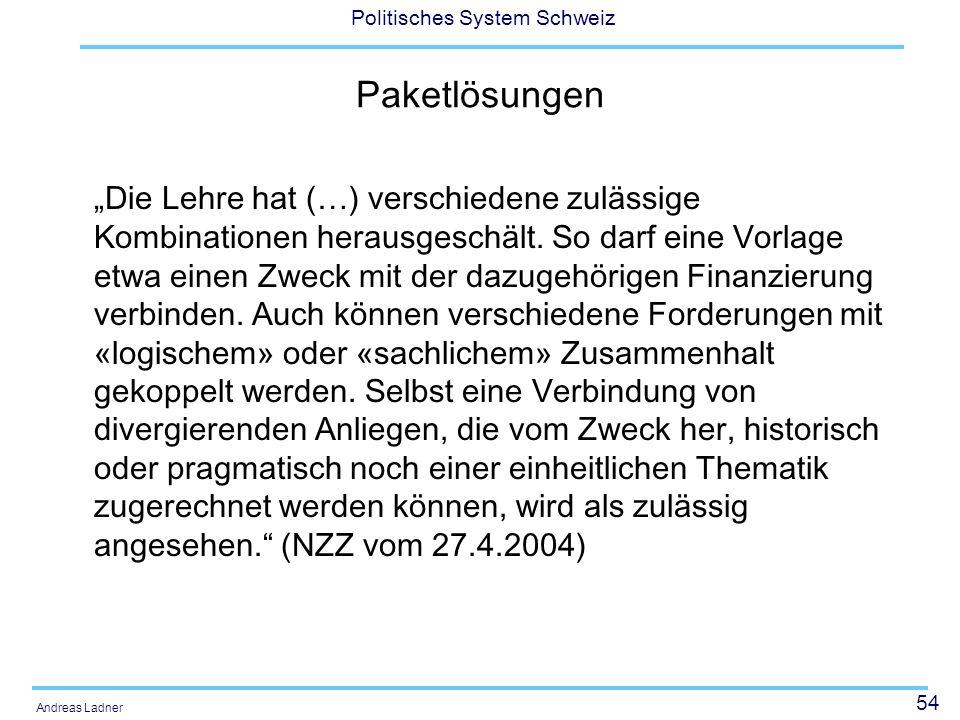 Politisches System Schweiz - ppt herunterladen
