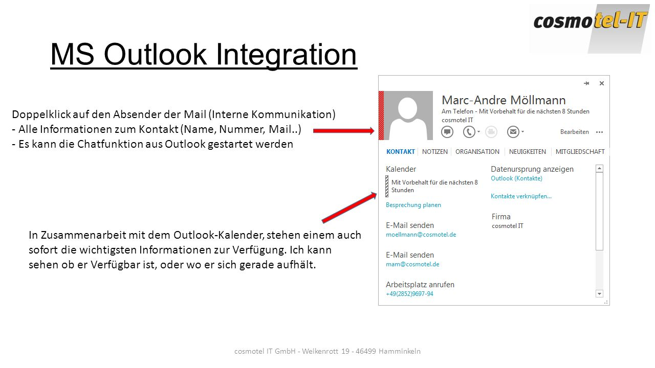 MS Outlook Integration