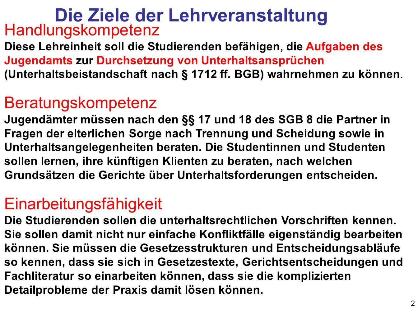 Familienrecht Unterhalt - ppt herunterladen
