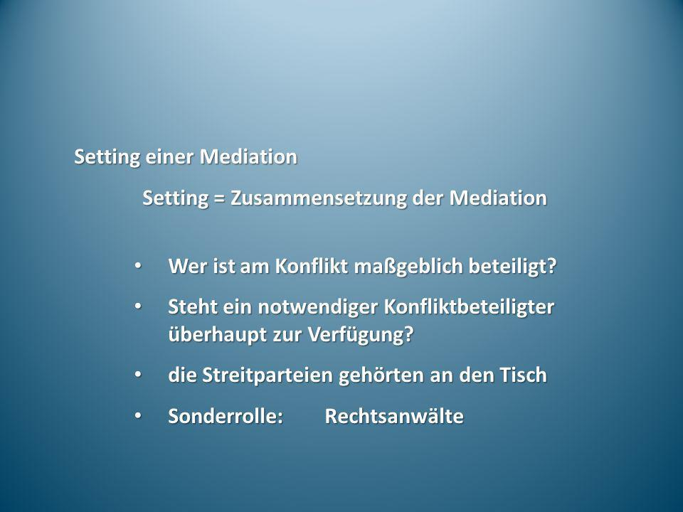 Setting einer Mediation