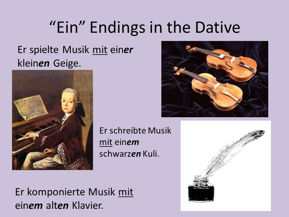 Ein Endings in the Dative