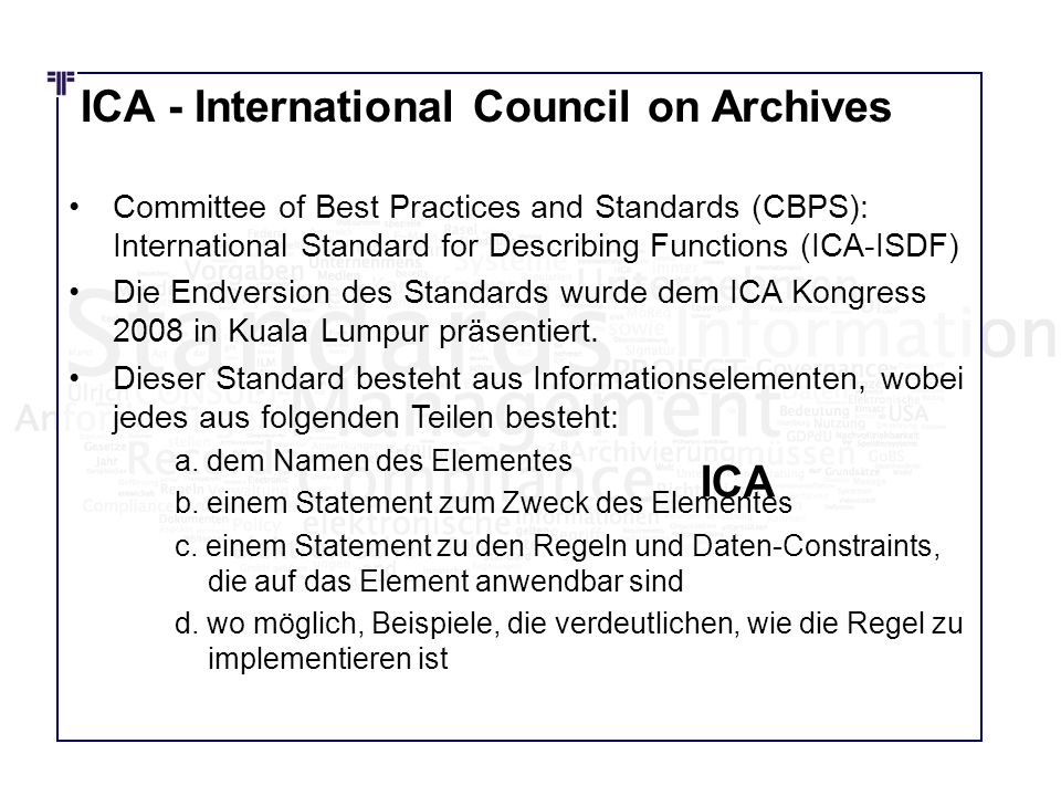 ICA - International Council on Archives