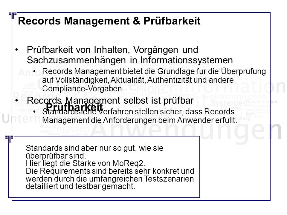 Records Management & Prüfbarkeit