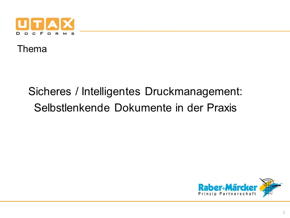 Sicheres / Intelligentes Druckmanagement: