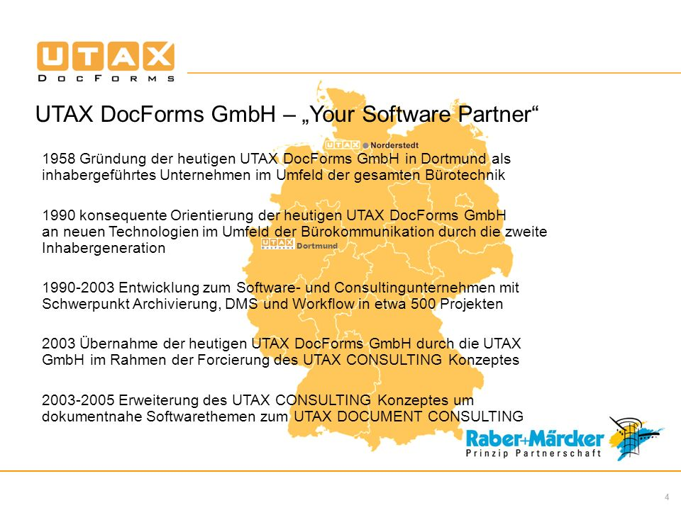 "UTAX DocForms GmbH – ""Your Software Partner"