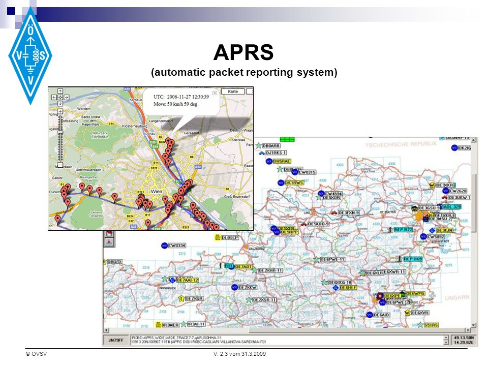 APRS (automatic packet reporting system)