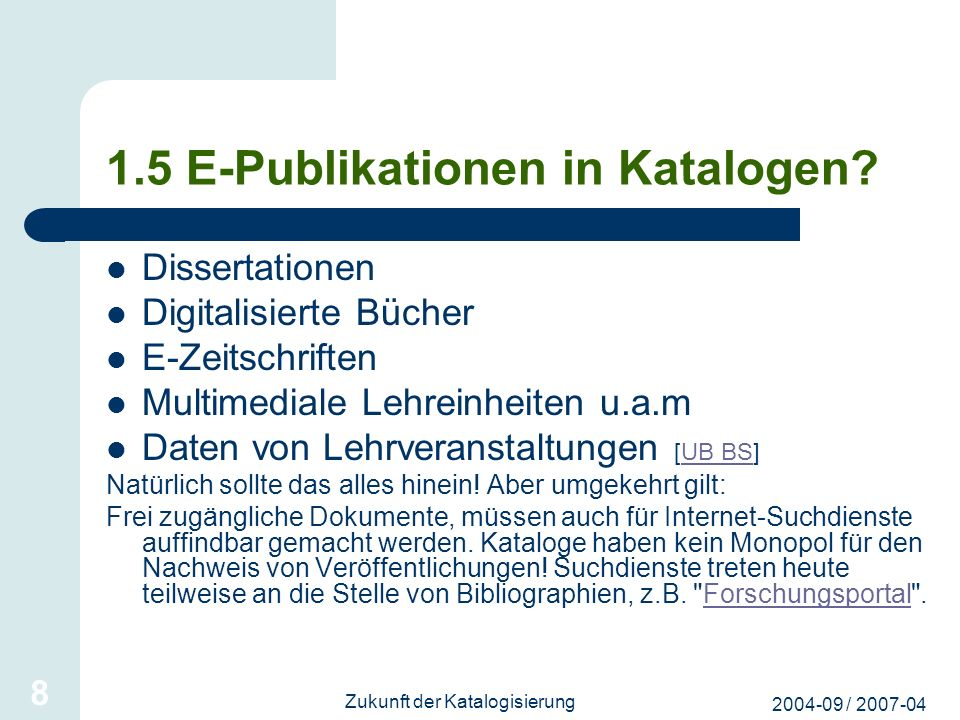 1.5 E-Publikationen in Katalogen