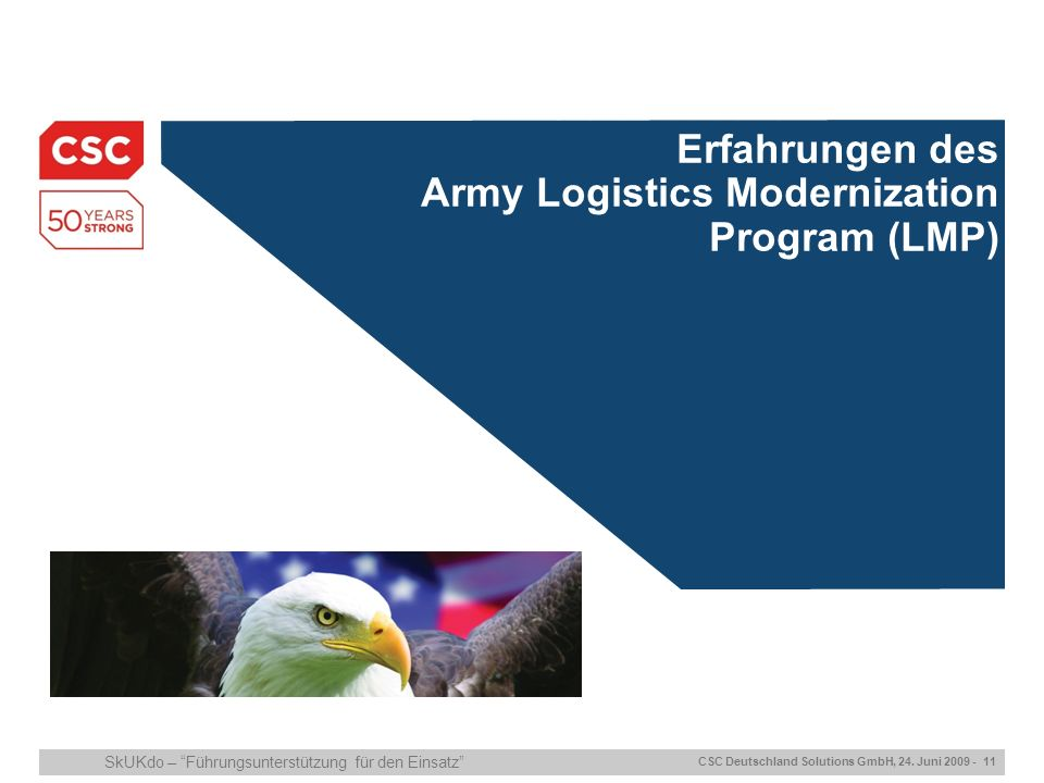 ITIL/ISO20000 Certification Erfahrungen des Army Logistics Modernization Program (LMP)