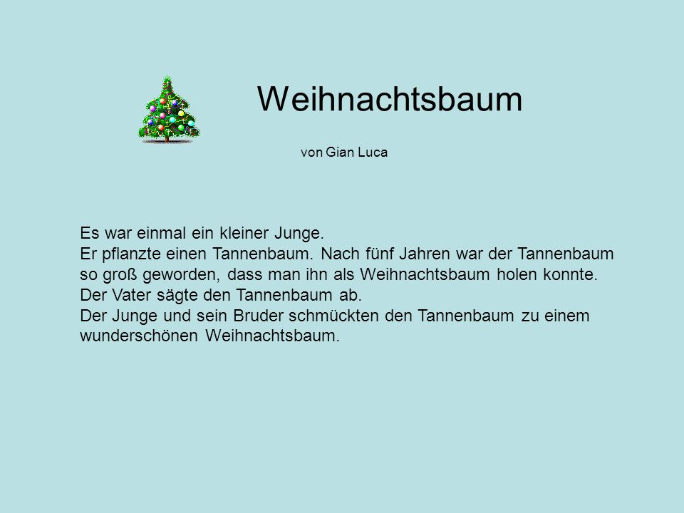 Tannenbaum Gedicht.Gedicht Tannenbaum Italiaansinschoonhoven