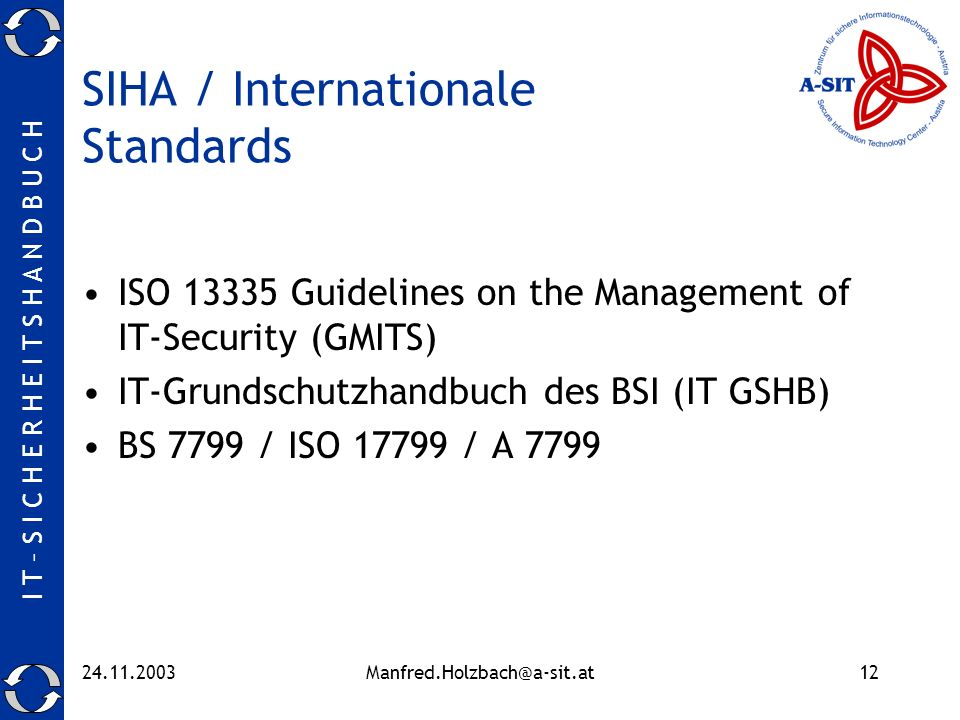 SIHA / Internationale Standards