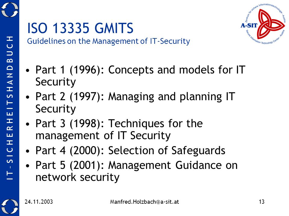 ISO GMITS Guidelines on the Management of IT-Security