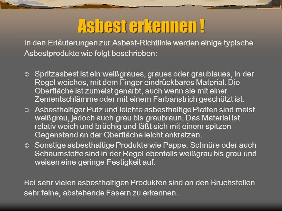 Gut bekannt Dachpappe Asbest Erkennen # Gestaltungsinspiration für Ihr Zuhause XZ62