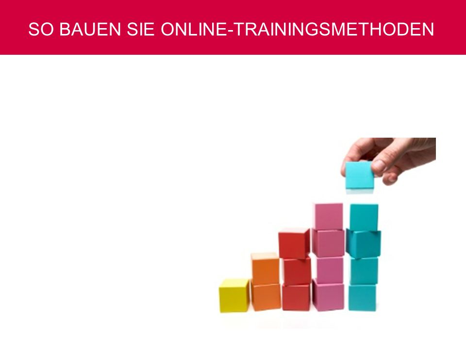 So bauen Sie Online-Trainingsmethoden