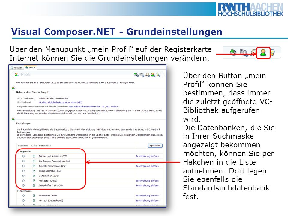 Visual Composer.NET - Grundeinstellungen