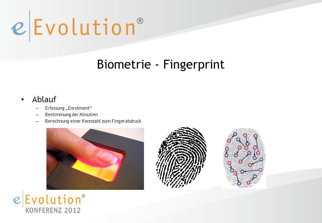 Biometrie - Fingerprint
