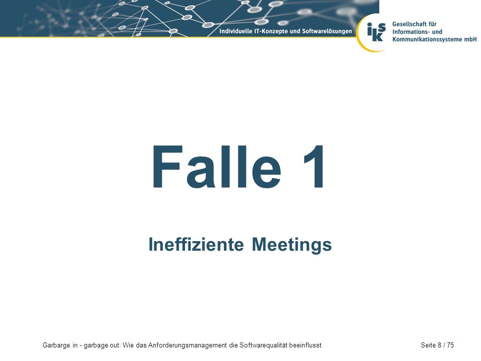 Ineffiziente Meetings